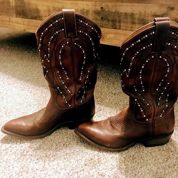 5f02cc2dc0d Frye Billy Stud Pull On Cowboy Boots